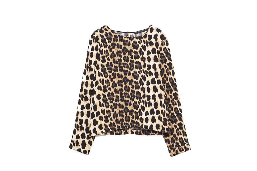 Blusa leopardo Zara