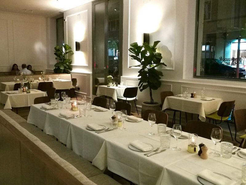 Vista del restaurante Hermosos y Malditos de Madrid