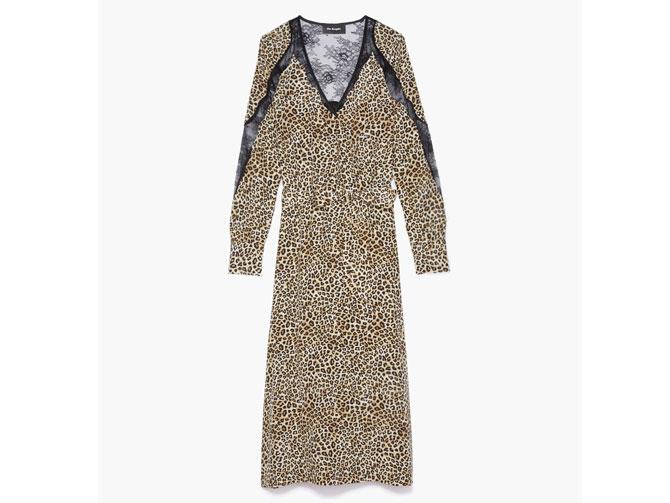 Vestido estampado leopardo superfavorecedor.