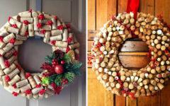 Decoración Navidad con corchos
