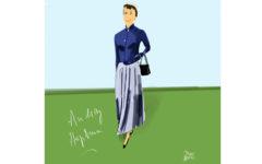 Faldas Plisadas. Audrey Hepburn por Dani Wilde.