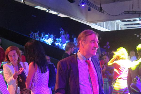 Pedro en el front row del ultimo Madrid Fashion Week