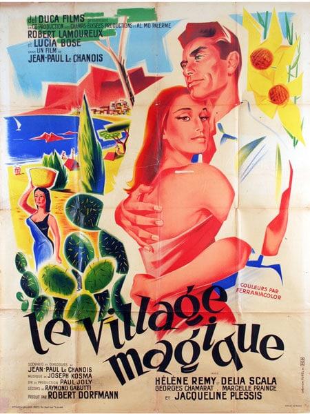 """Cartel de la película """"Le village magique"""""""