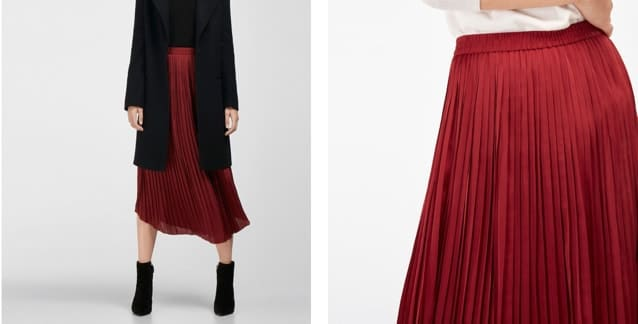 Falda plisada de Massimo Dutti (29,95 euros)