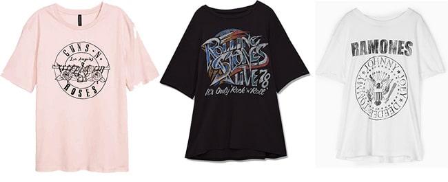 Camisetas rockeras