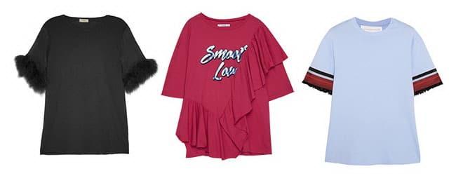 Camisetas con detalles en las mangas