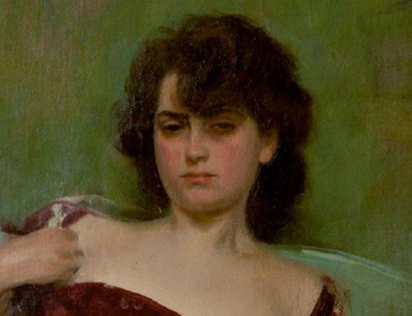 Júlia en grana, hacia 1906. Óleo sobre tela. Colección Círculo Ecuestre, Barcelona