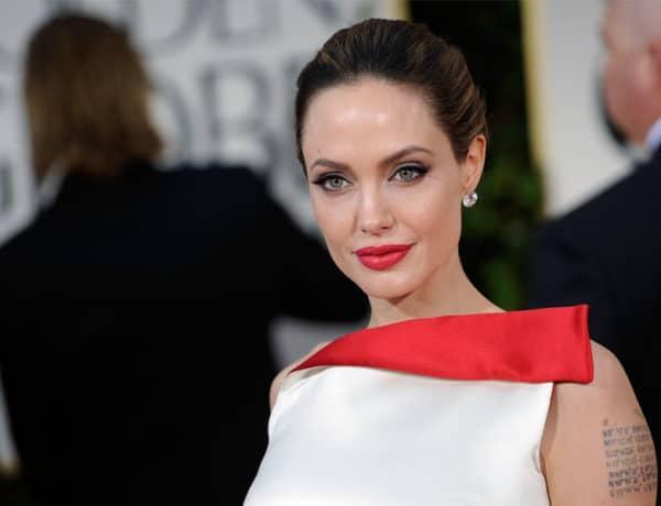 Angelina Jolie con los labios perfectamente maquillados. Foto.gtres