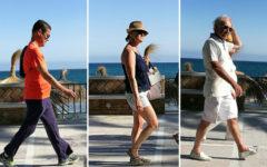 Baby boomers caminando