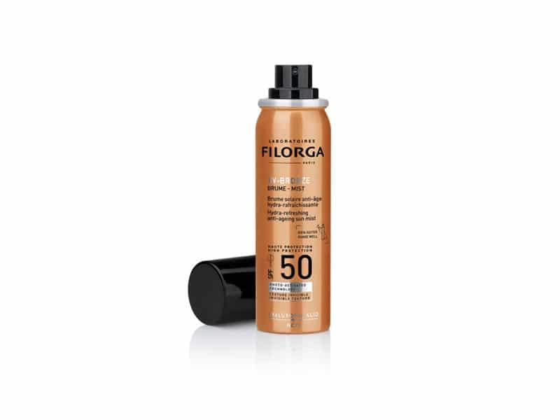 UV BRONZE Brume Mist SPF 50 de Filorga, perfecto para mayores de 50, cómodo y eficaz