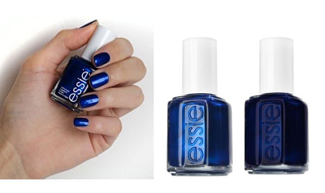 Azules intensos de ESSIE color.Aruba Blue y Midnight Cami, perfecto para la noche (7,99€)