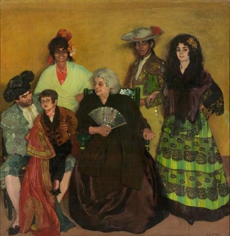 La familia del torero gitano. Zuloaga. Óleo sobre lienzo, 1903. Nueva York, The Hispanic Society of Nueva York