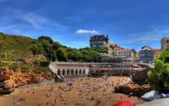 Biarritz. La plage du Port Vieux