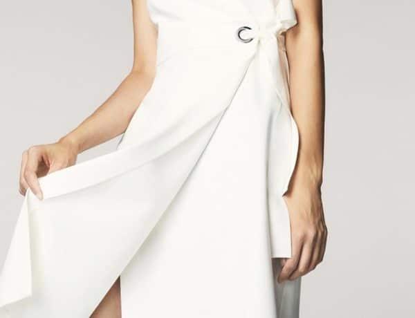Vestidos blancos verano 2017. Modelo de Massimo Dutti. Imagen:web Massimo Dutti