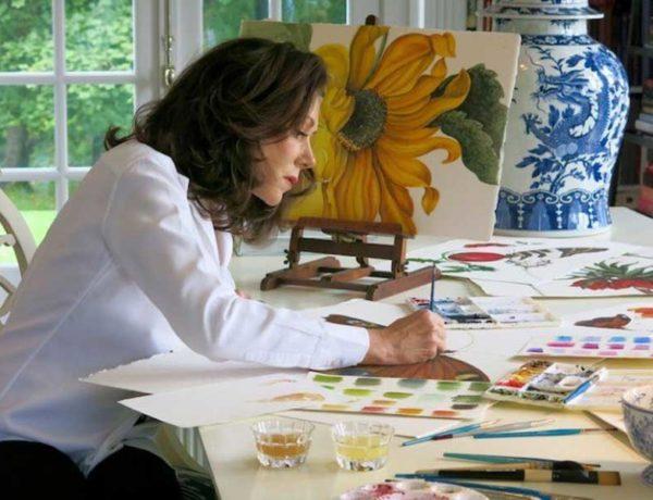 Carolyne Roehm en su estudio de Connecticut. Imágen Georgia Lewis