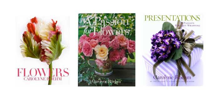 Carolyne Roehm es la autora de numerosos libros, entre sus temas preferidos están las flores. Imágenes de su web donde podéis comprarlos