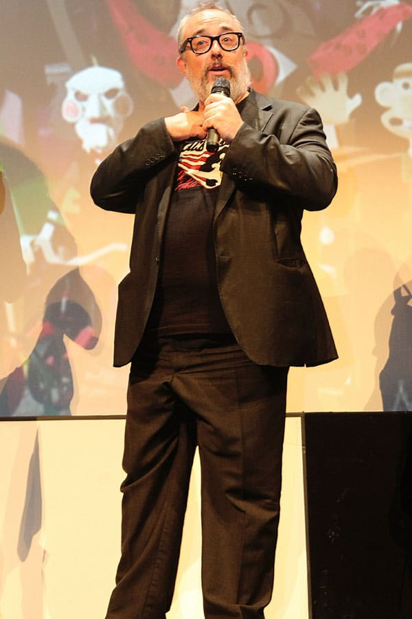 El director Alex de la Iglesia en el festival de San Sebastian del 2014