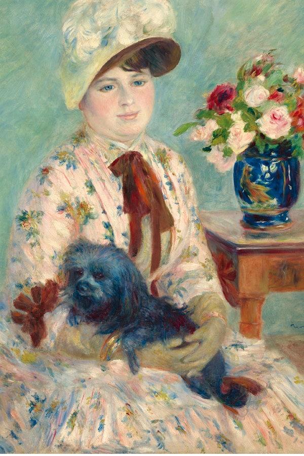 Retrato de Mlle Berthier por Pierre Auguste Renoir al Museo Thyssen