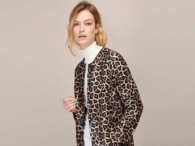 Abrigo ligero de estampado leopardo