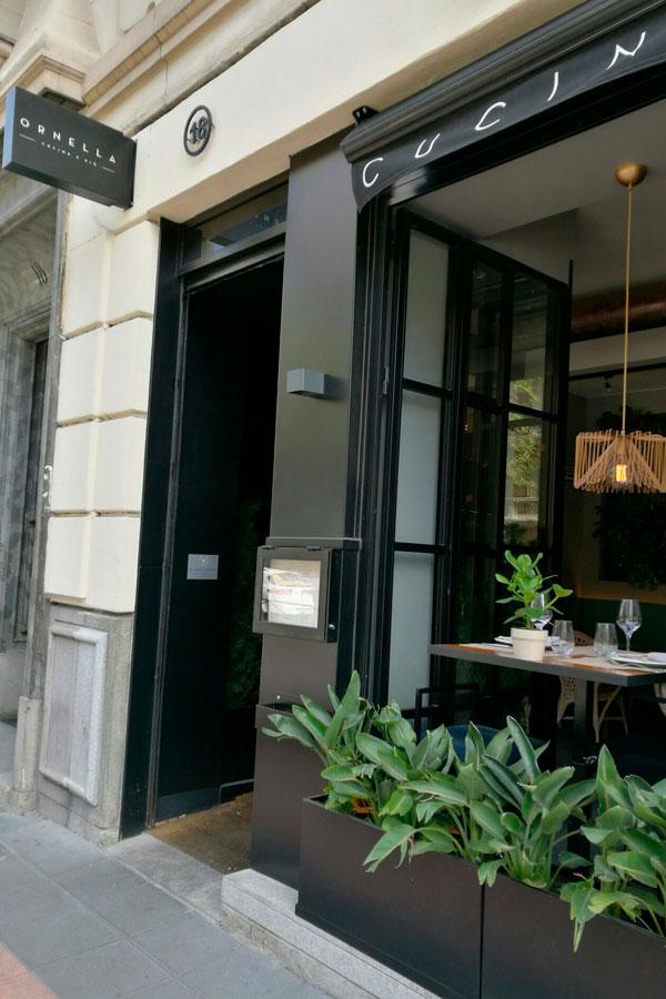 Restaurante italiano Ornella en el barrio de Salamanca