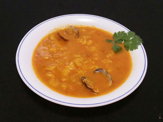 Sopa de Marisco deliciosa y sana
