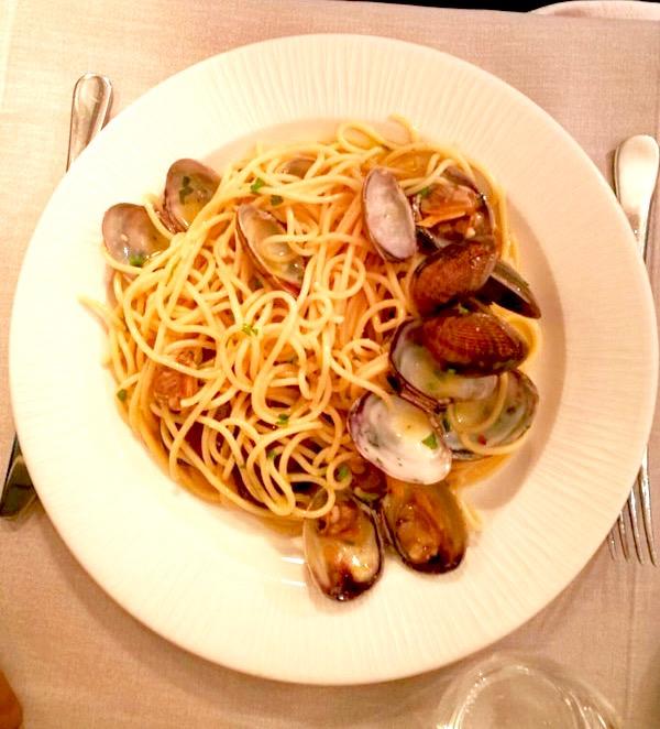 Spaguettis Vongole
