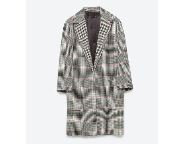 Abrigo cuadros Gales Zara