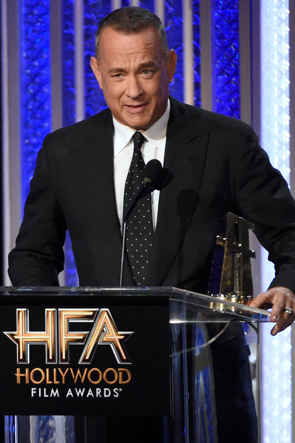 Tom Hanks recibe su premio
