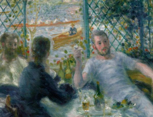 Almuerzo en el restaurante Fournaise (El almuerzo de los remedos) 1875