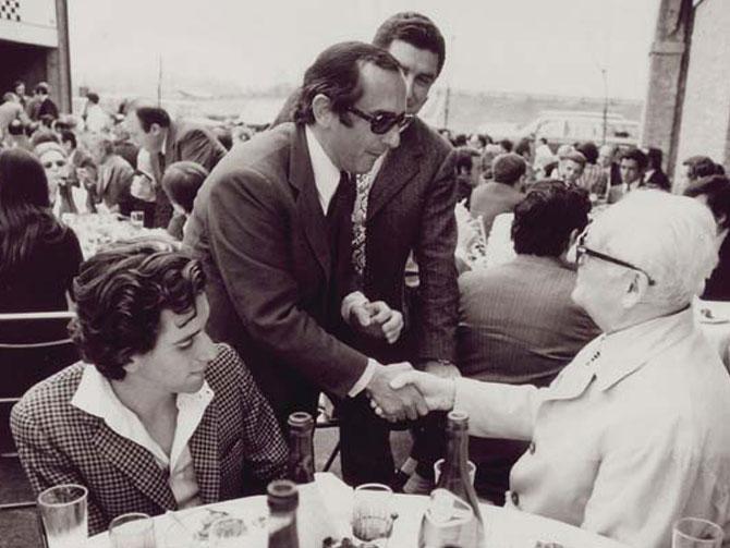 Enzo Ferrari con Jack Heuer
