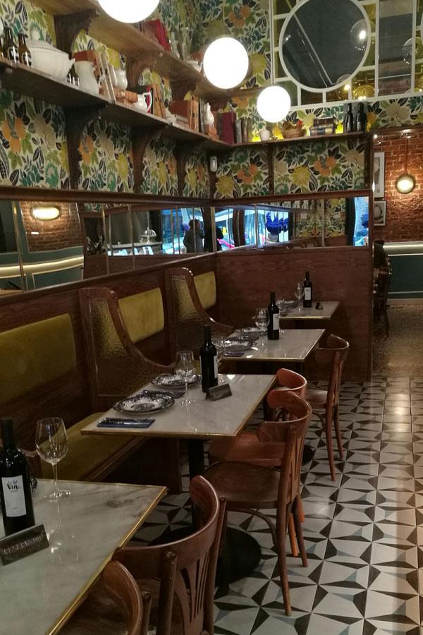 Uno de los espacios del restaurante La Rotisserie