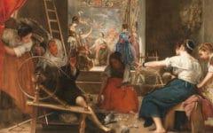 Las hilanderas o la fábula de Aracne 1655 - 1660. Óleo sobre lienzo, 220 x 289 cm
