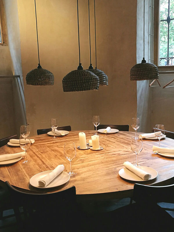 Mesa restaurante Fismuler