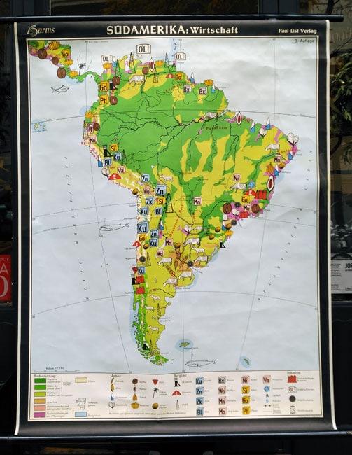 Mapa de Sud America en Alquian