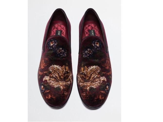 Slippers de terciopelo estampados de Dolce Gabbana por 595 euros