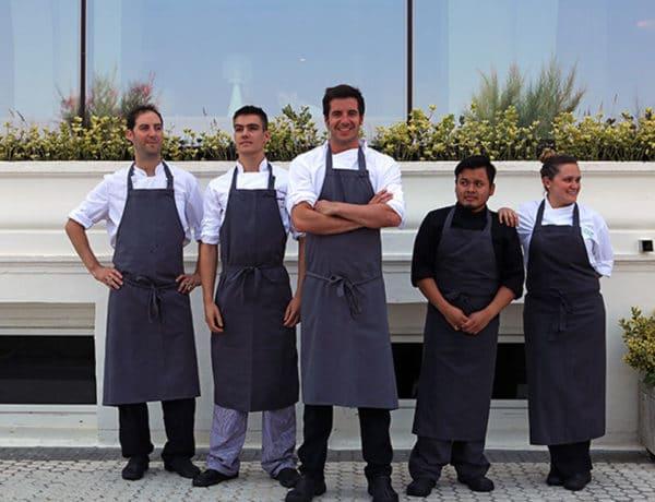 El chef del Narru y su equipo
