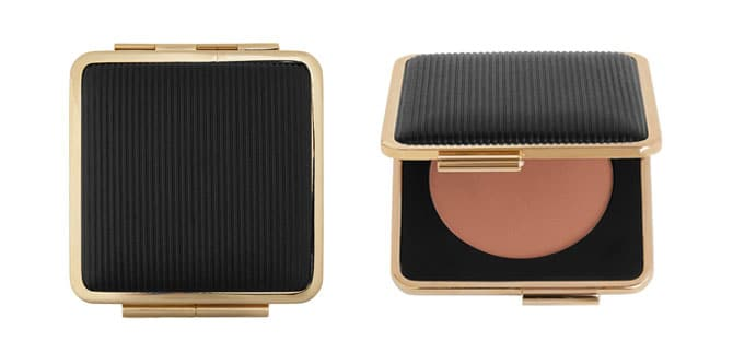 Polvera oro y negro, colección Victoria Beckham para Estée Lauder