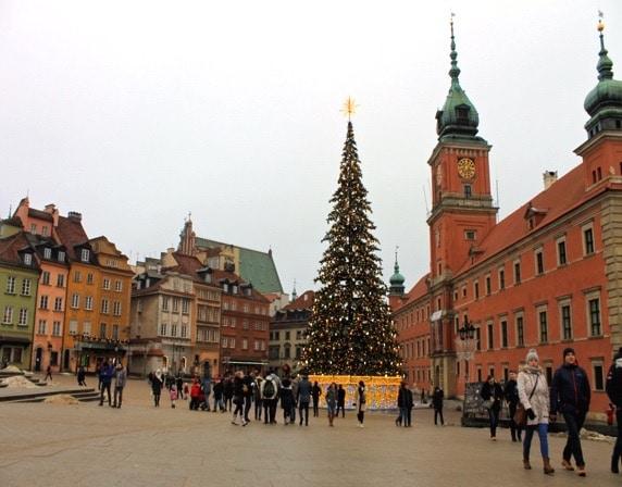 Plaza del Castillo en Old Town, Varsovia