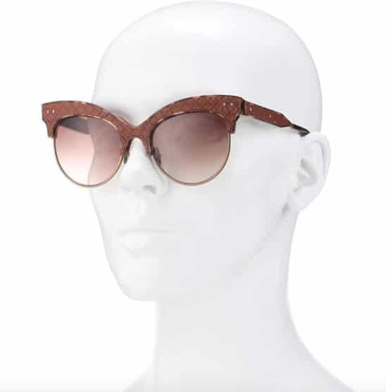 Gafas de Bottega Venetta disponibles en mytheresa.com. Antes 380 € ahora 228€