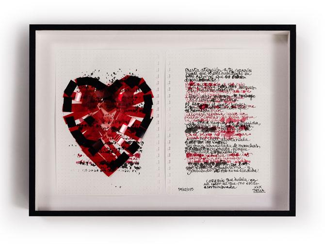 """""""Corazón que habla en un color al que no estás acostumbrado"""" de Delia Rubio"""