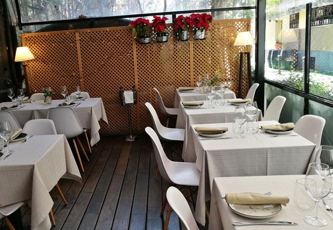 Terraza exterior del Restaurante No