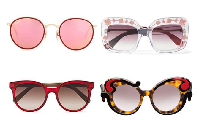 Gafas de Ray-ban, Gucci, Salvatore Ferragamo para Marchon y Prada para regalar en San Valentín