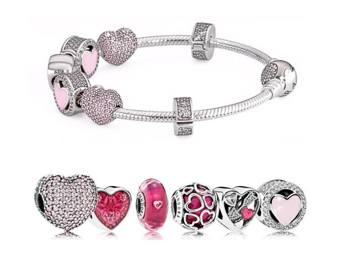 Pulsera San Valentin de Pandora con diferentes charms