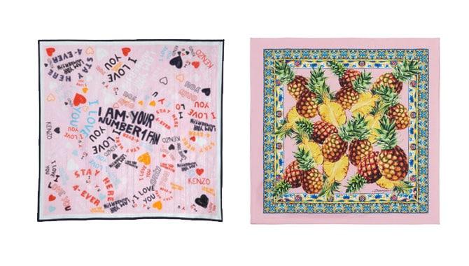 Pañuelos estampados una buena idea para regalar a tu chica. De Kenzo y Dolce&Gabbana