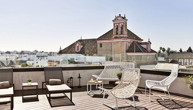 Solarium del Hotel Casa 1800 de Sevilla. Foto: Hotel Casa 1800