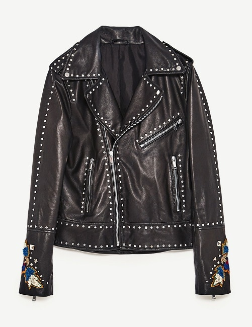 Biker con tachuelas y bordados Zara (149,00 €)