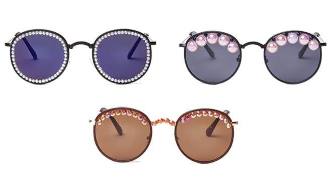 Gafas de sol de Freda Banana (Es una marca que tiene muchos modelos de gafas con perlas)