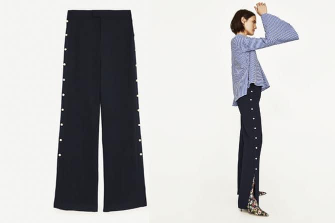 Pantalón de Zara con detalle de perlas a los lados