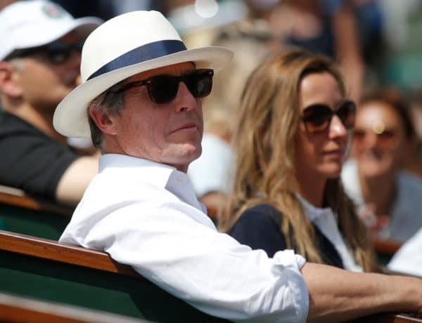 Hugh Grant en Roland Garros