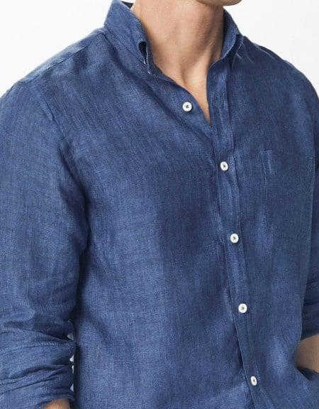 camisa lino lino slim fit